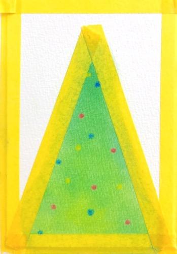 パステルアートで描く簡単なクリスマスツリーの描き方5