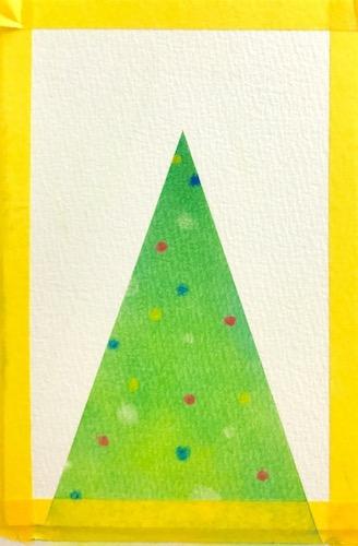 パステルアートで描く簡単なクリスマスツリーの描き方6