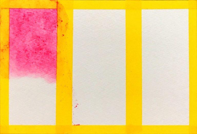 パステルアート描き方基本のグラデーション1色目のピンク色です。