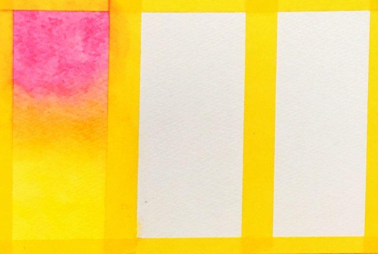パステルアート描き方基本のグラデーション2色目の黄色を塗りました